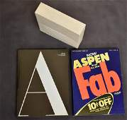 Four Volumes of Aspen. The Magazine in a Box