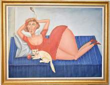 Benjamin Levy Oil On Canvas, Female Figure