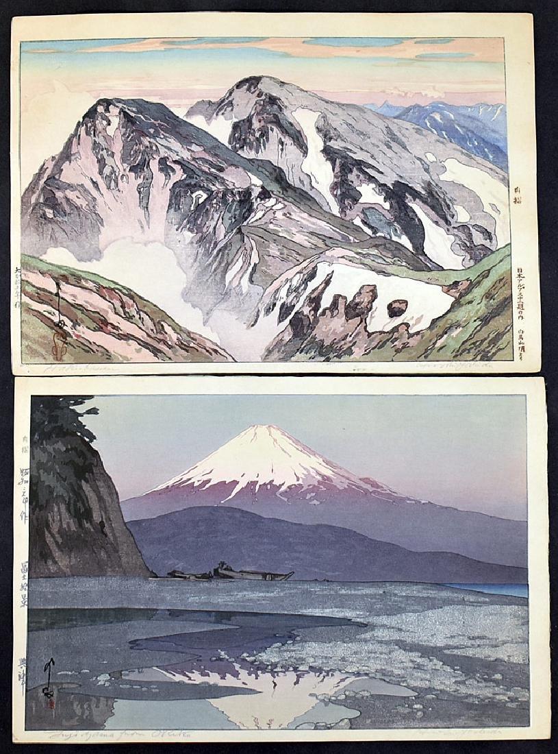 Two Hiroshi Yoshida Woodblock Prints