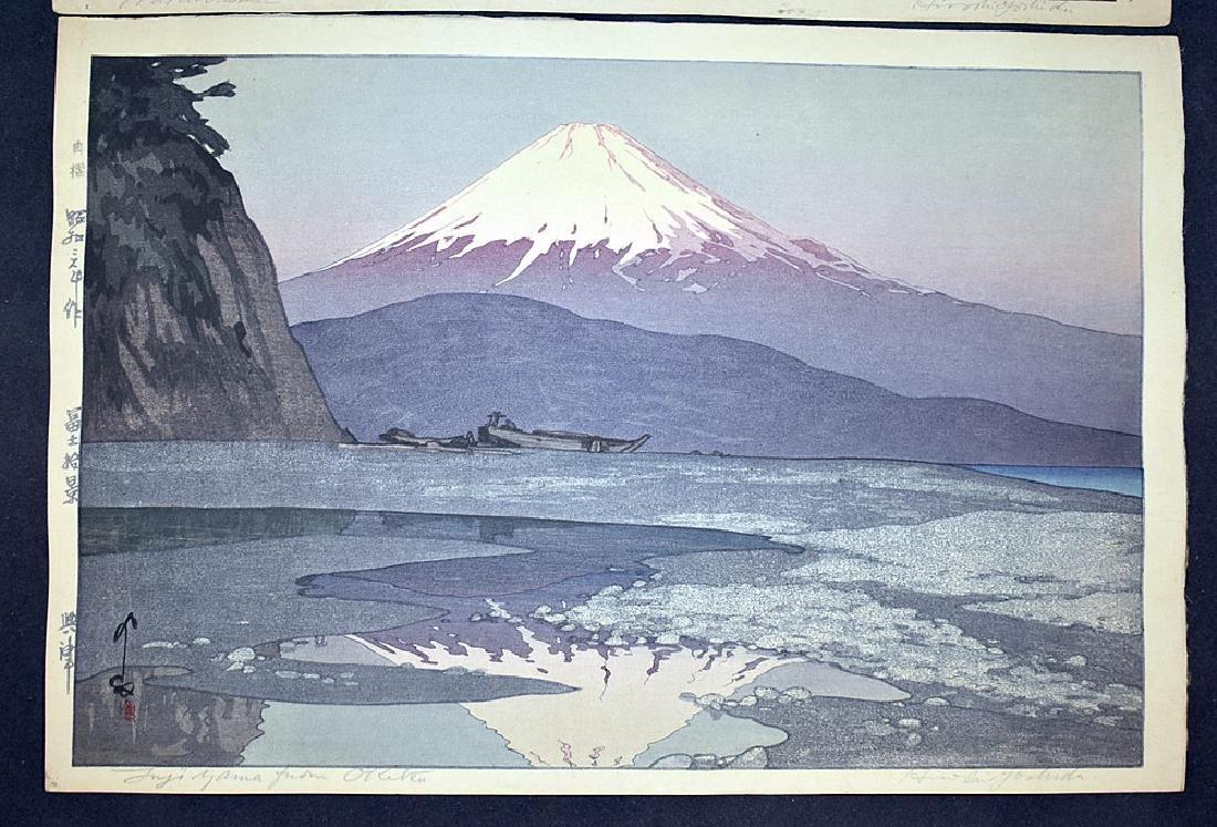 Two Hiroshi Yoshida Woodblock Prints - 5