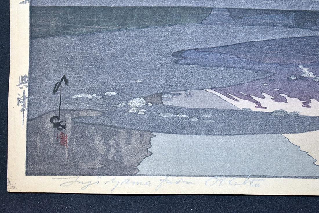 Two Hiroshi Yoshida Woodblock Prints - 7