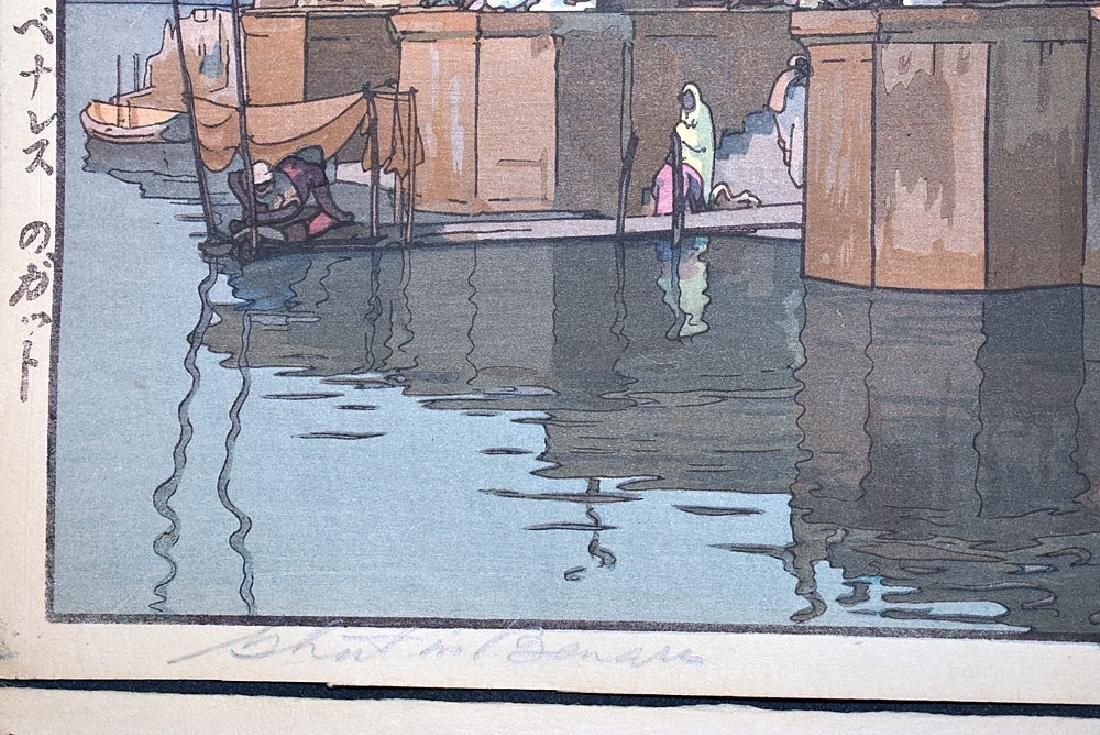 Two Hiroshi Yoshida Woodblock Prints - 4