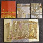 Four John Hanlen Abstract Works