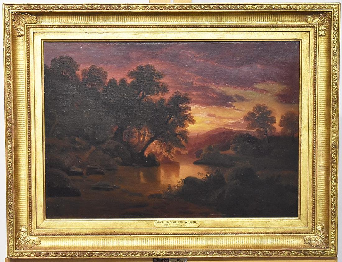 Gottlieb Daniel Paul Weber O/C, Wissahickon Creek