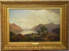 Edmund Darch Lewis Oil on Canvas, Landscape