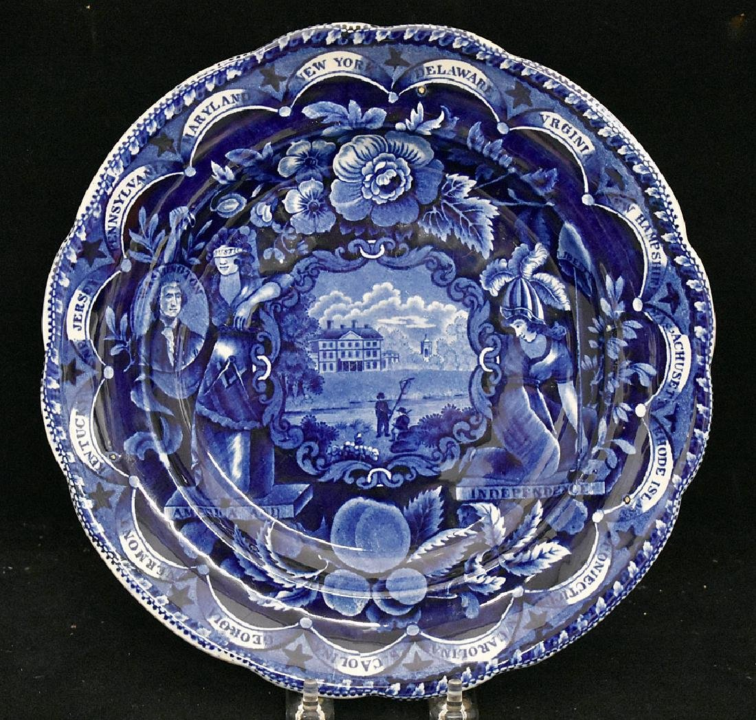 Historical Staffordshire Plate, Independence
