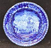 Wood Staffordshire Blue Transferware Soup Plate