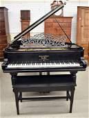 Steinway Baby Grand Piano, Circa 1887