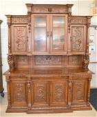 Continental Carved Figural Court Cupboard
