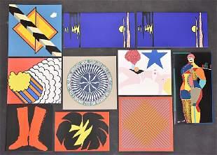 Ten Silkscreen Christmas Cards From Multiples, Inc.