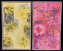 Two Paul Shaub Oils on Canvas, Abstracts