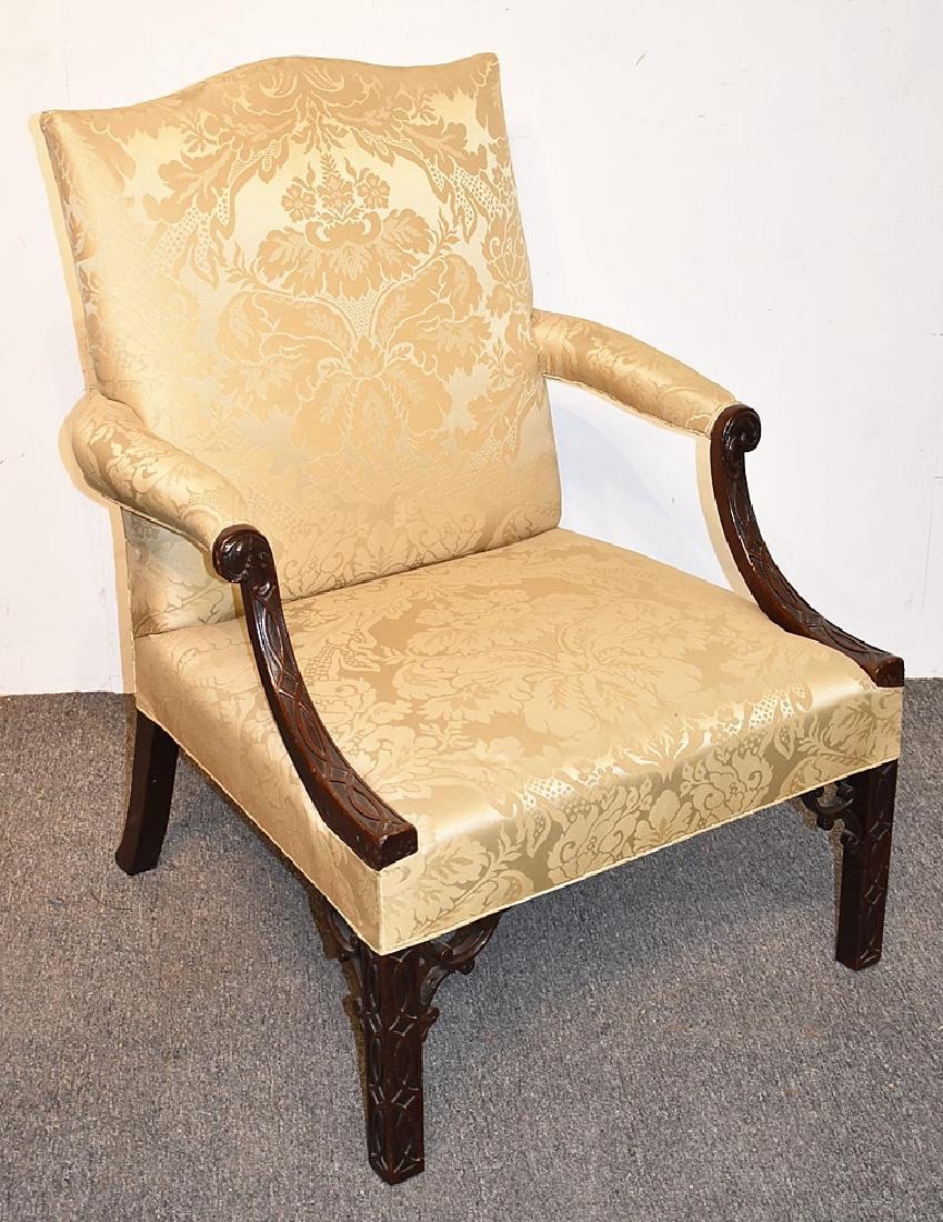 Georgian Mahogany Library Chair