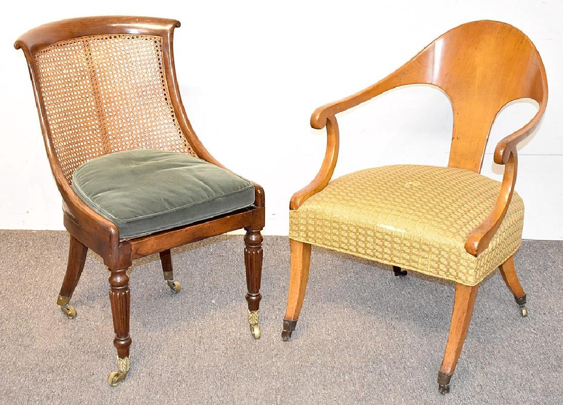 Two Empire Chairs