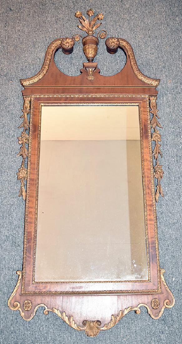 Federal Style Mahogany and Gesso Mirror