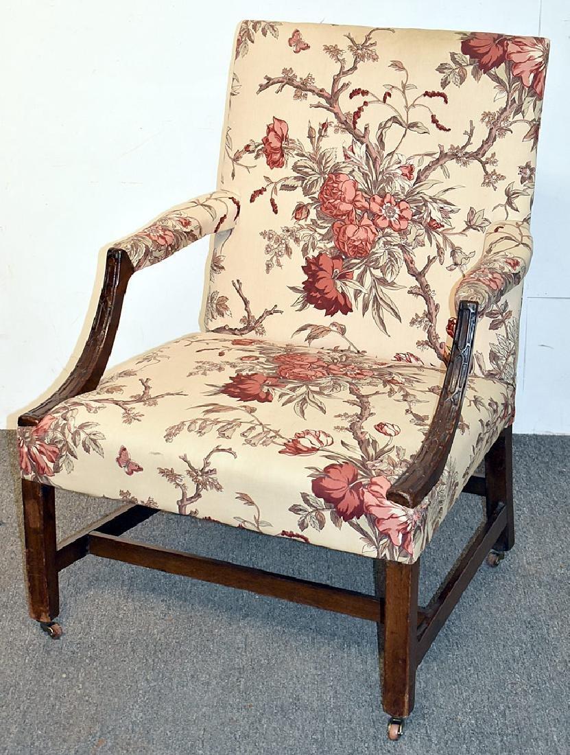 Georgian Mahogany Library Chair