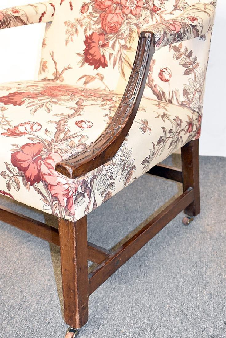 Georgian Mahogany Library Chair - 2