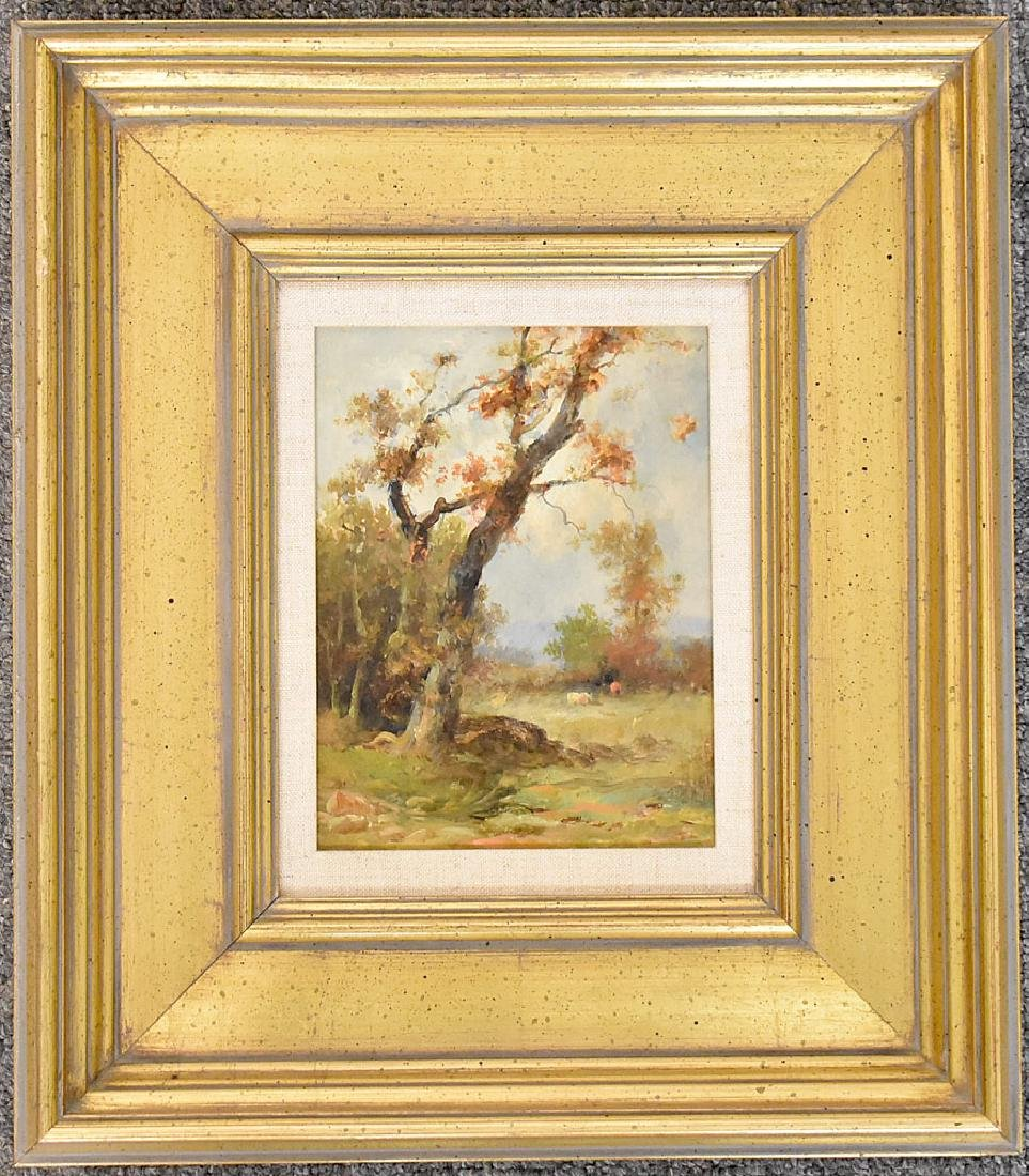 Attrb. Franklin D. Briscoe Oil/Panel, Landscape