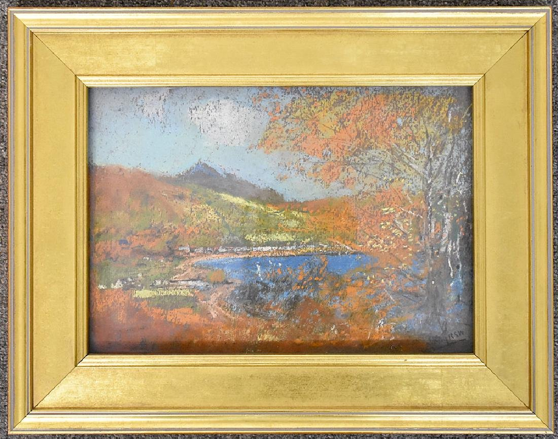 James Kay Pastel on Paper, The Mountain Lake
