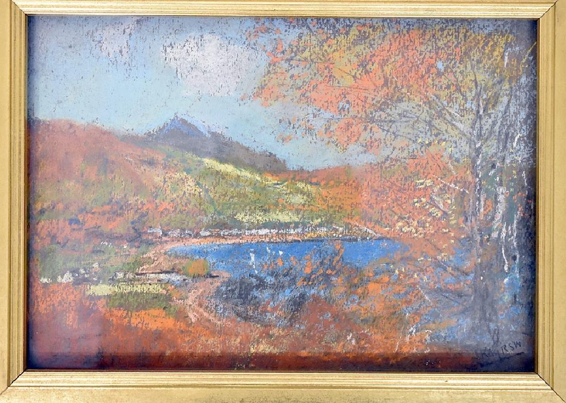 James Kay Pastel on Paper, The Mountain Lake - 2