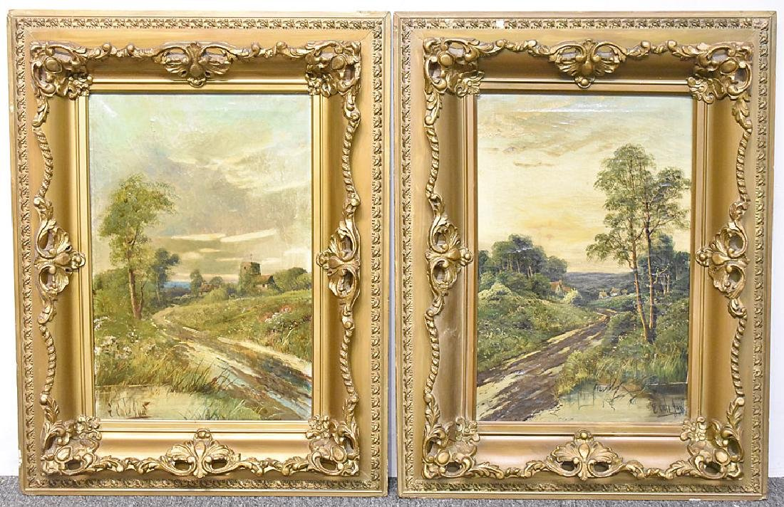 Two Edwin Cole Oil on Canvas Landscapes
