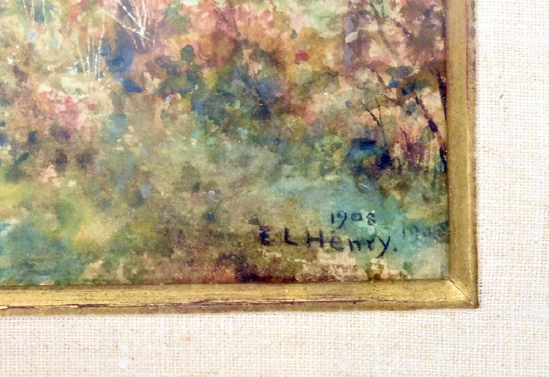 Edward Lamson Henry Watercolor, Neighbors - 3