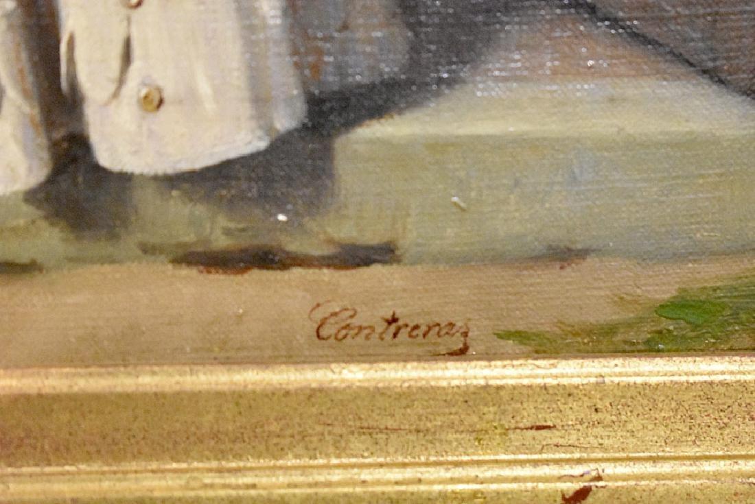 Contreras Oil on Canvas, Woman in Doorway - 3
