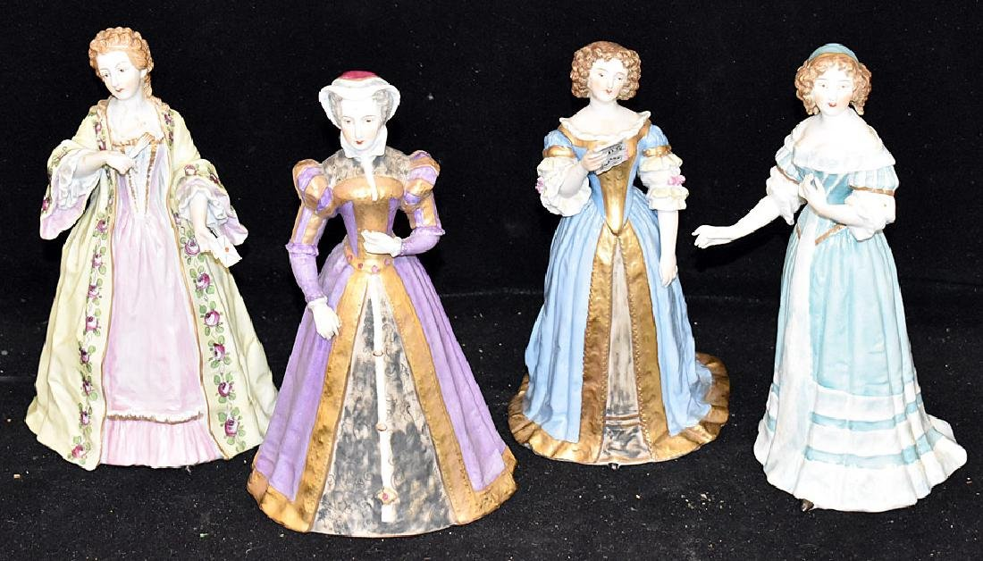 Four Sevres Porcelain Figures of Women