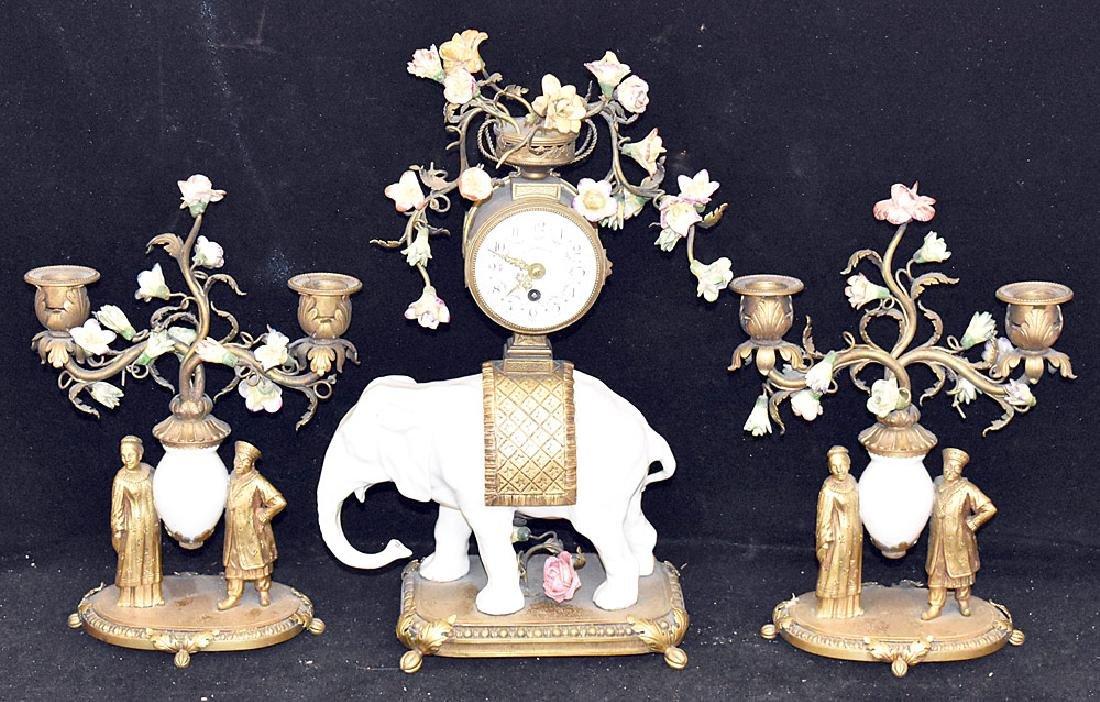 Louis XV-style Clock Garniture