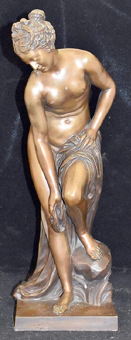 Victor Paillard Bronze Sculpture, Female Nude