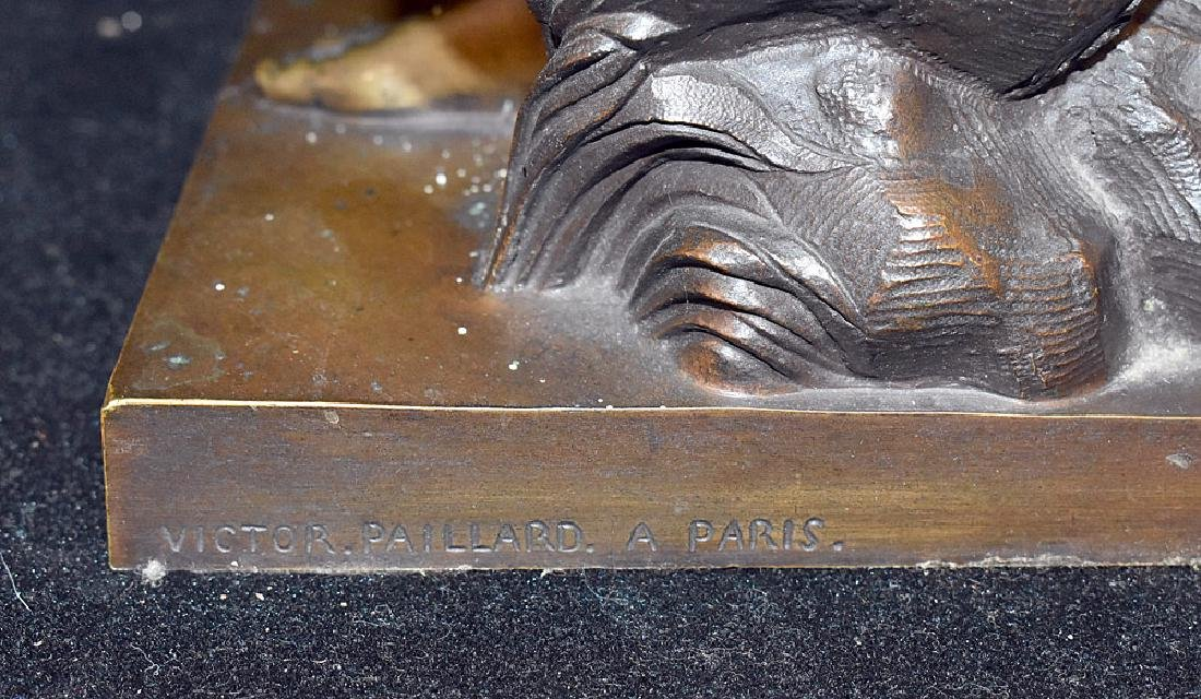 Victor Paillard Bronze Sculpture, Female Nude - 3