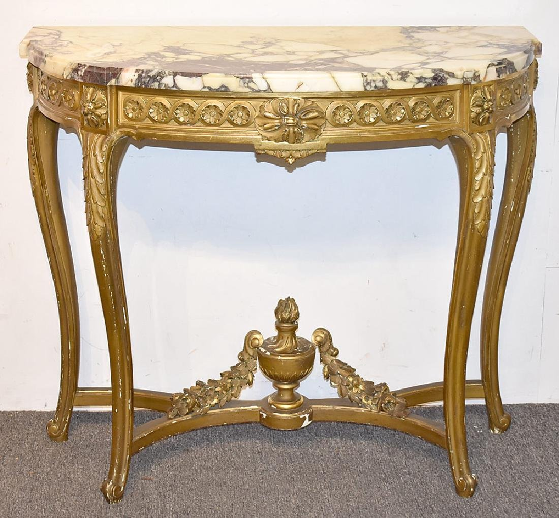 Louis XVI-style Giltwood Console