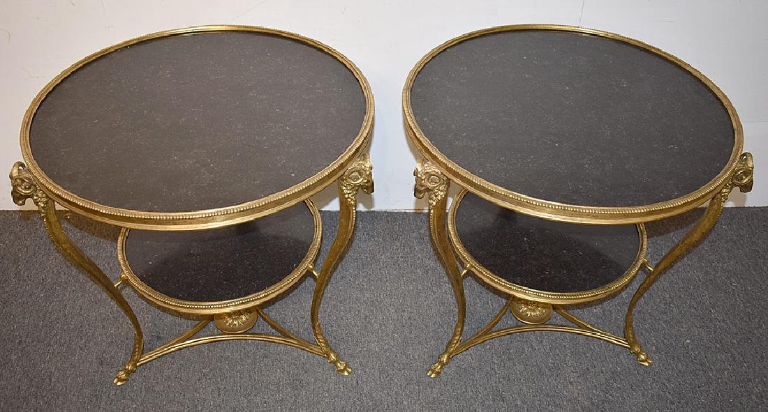 Pair of French Rams Head Gueridons - 2
