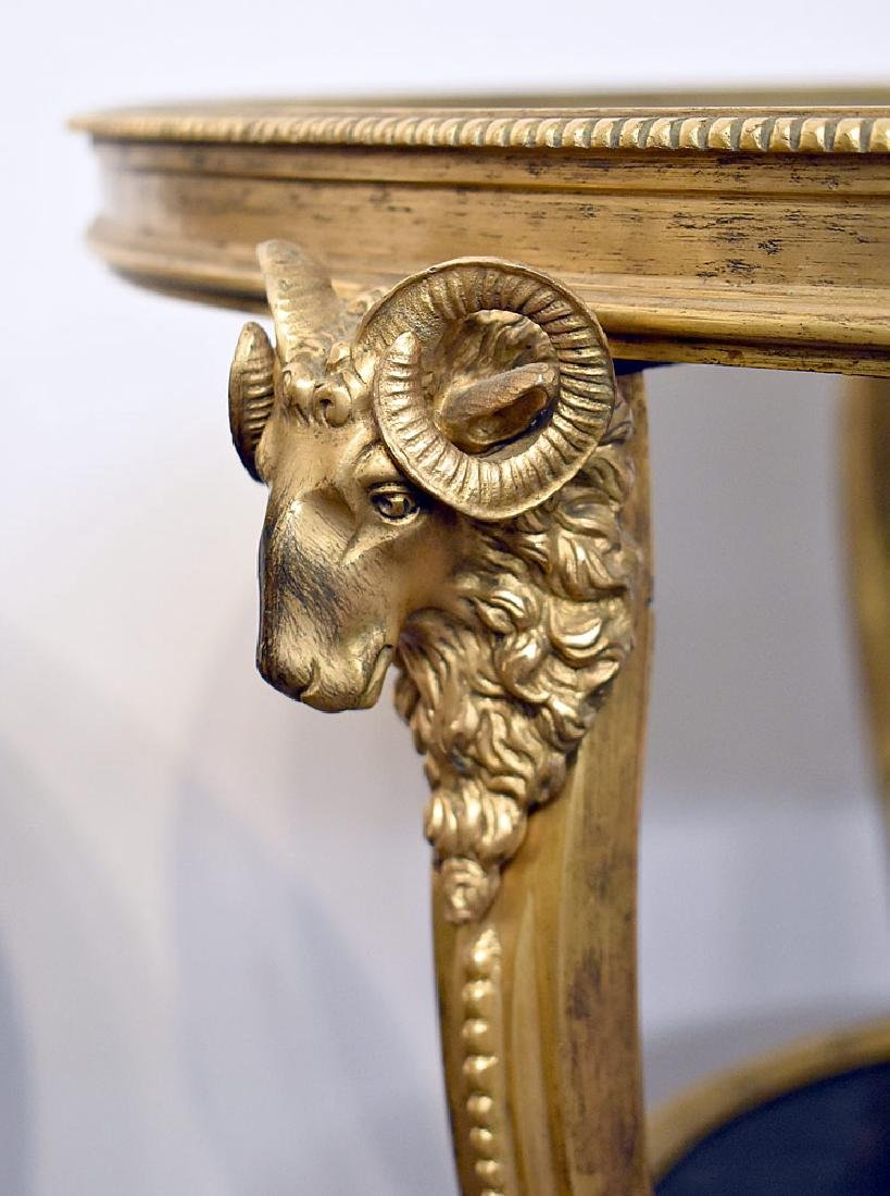 Pair of French Rams Head Gueridons - 3