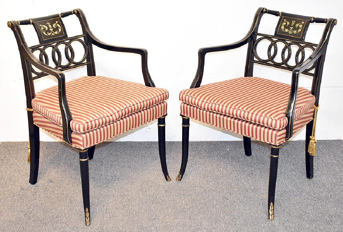 Eight Regency-style Dining Chairs
