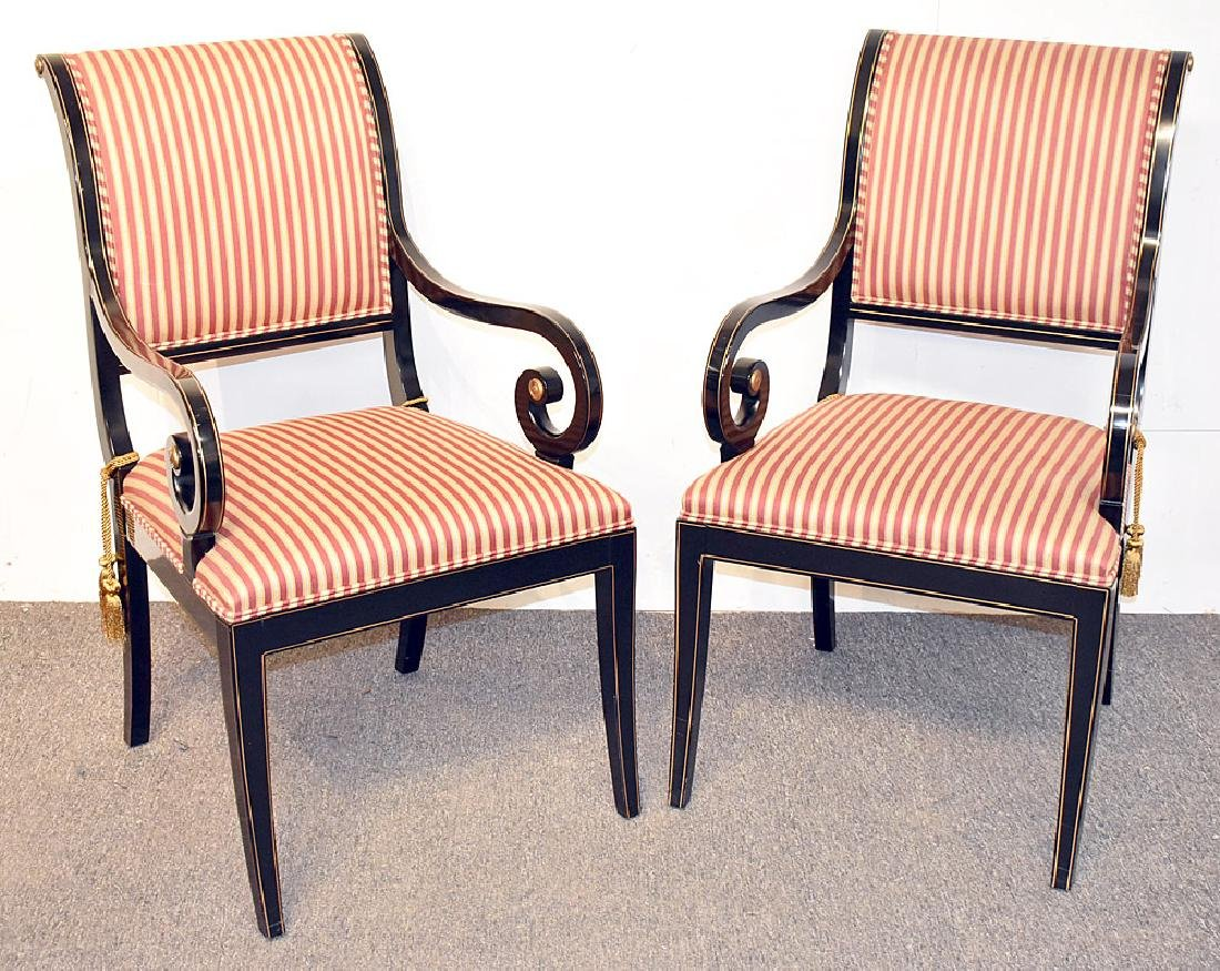 Pair of Kindel Regency-style Armchairs