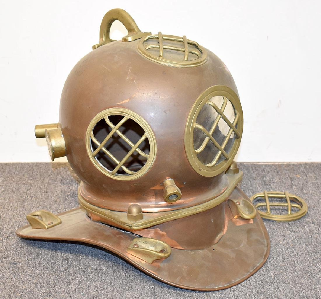Copper and Brass Diving Helmet