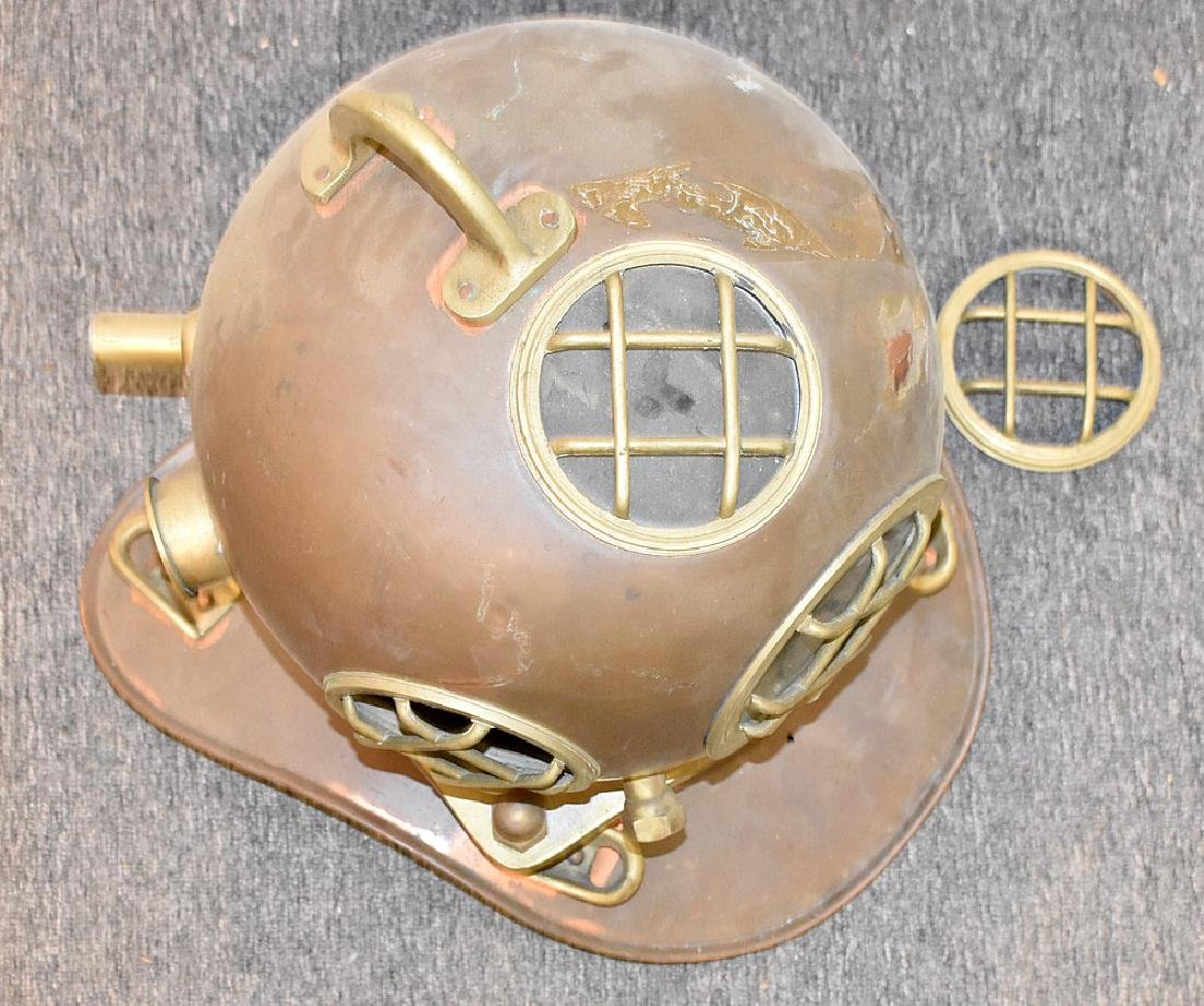 Copper and Brass Diving Helmet - 2