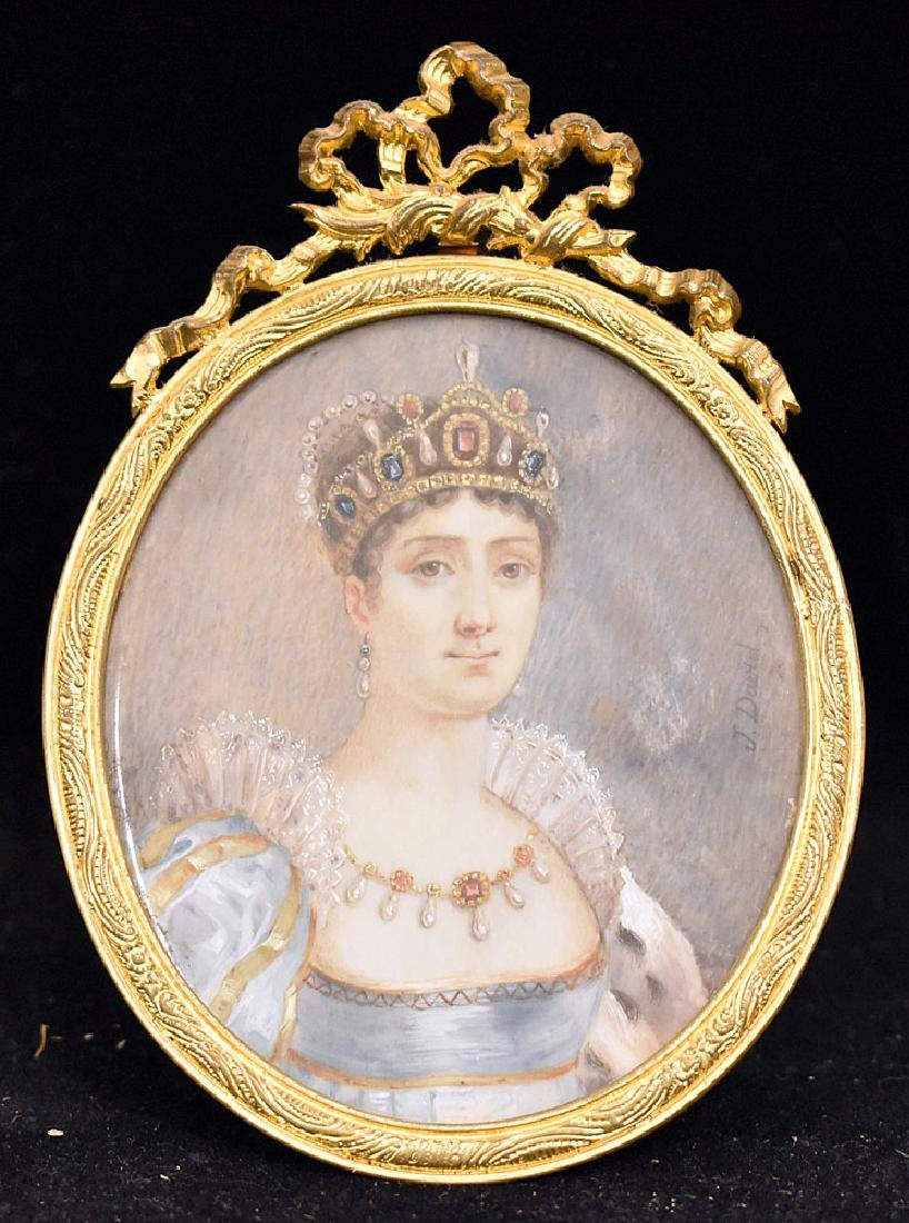 Miniature French Portrait of Josephine