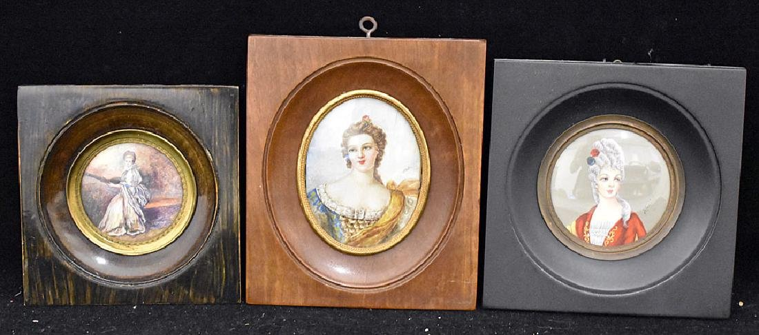 Three Miniature Portraits of Women