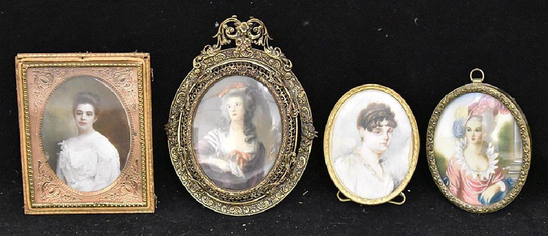 Four Miniature Portraits of Women