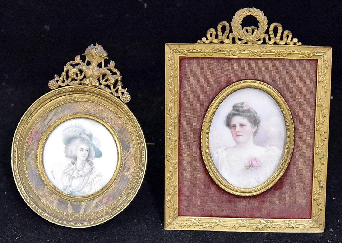 Two Miniature Portraits of Women