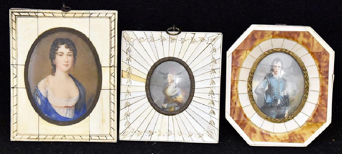 Three Miniature Portraits
