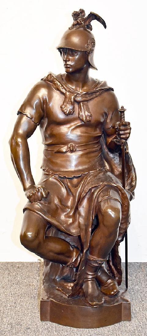 After Paul Dubois Bronze Sculpture, Soldier