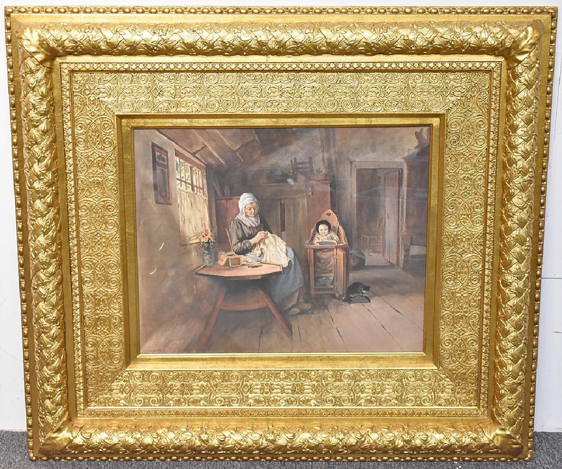 Meyerhoff Watercolor, Genre Scene