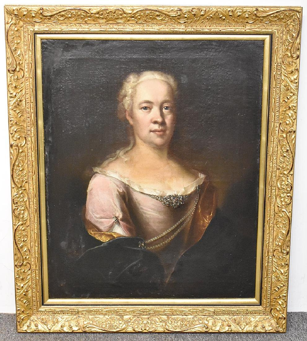 Unsigned Oil on Canvas, Portrait of a Woman