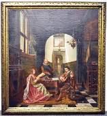 Charles Meer Webb Oil on Canvas, Genre Scene