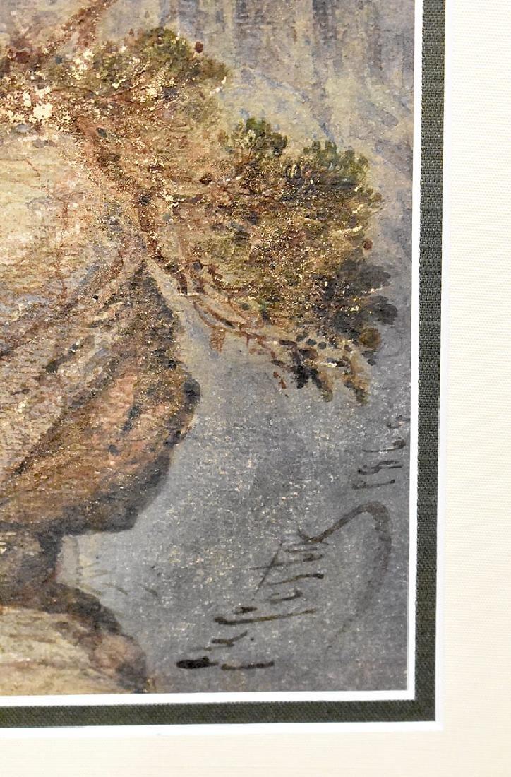 Giovanni Costa Watercolor, Castle in the Mountains - 3