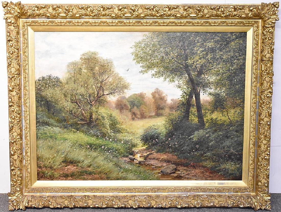 Christopher High Shearer Oil on Canvas, Landscape