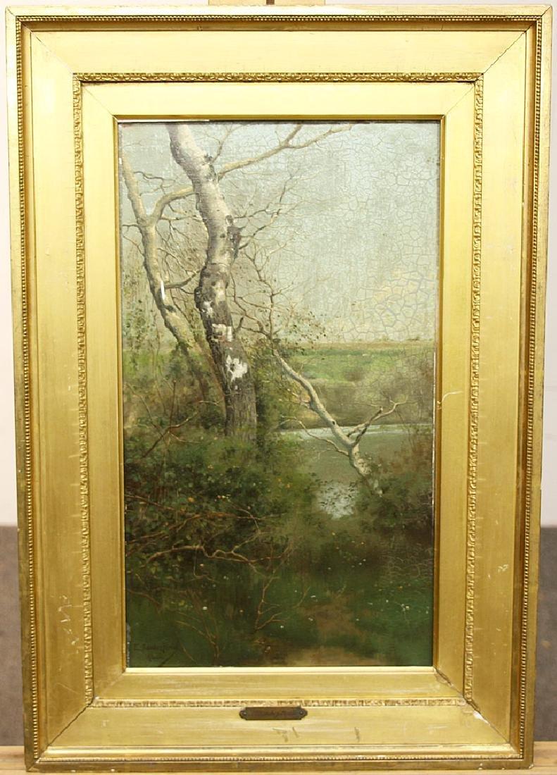 Emilio Sanchez-Perrier Oil on Panel, Landscape