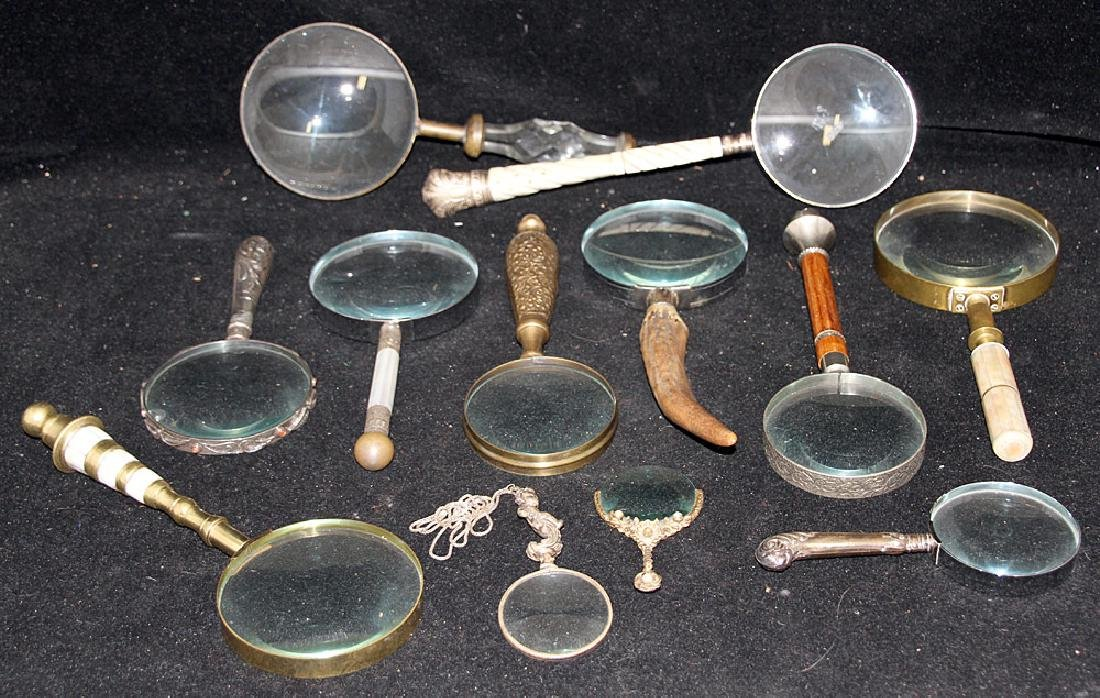 Collection of Twelve Magnifying Glasses